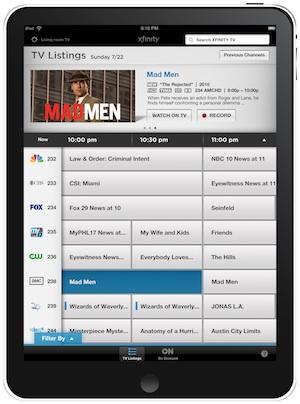 Comcast's New Xfinity TV App: Nice Start, Lots More To Do - VideoNuze