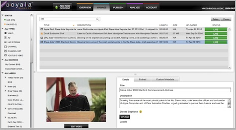 Ooyala Integrates YouTube Access For Customers - VideoNuze