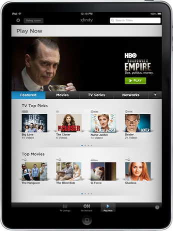 Comcast's iPad Streaming is a Milestone for Pay-TV - VideoNuze